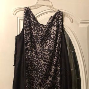 Ann Taylor black/grey leopard dress